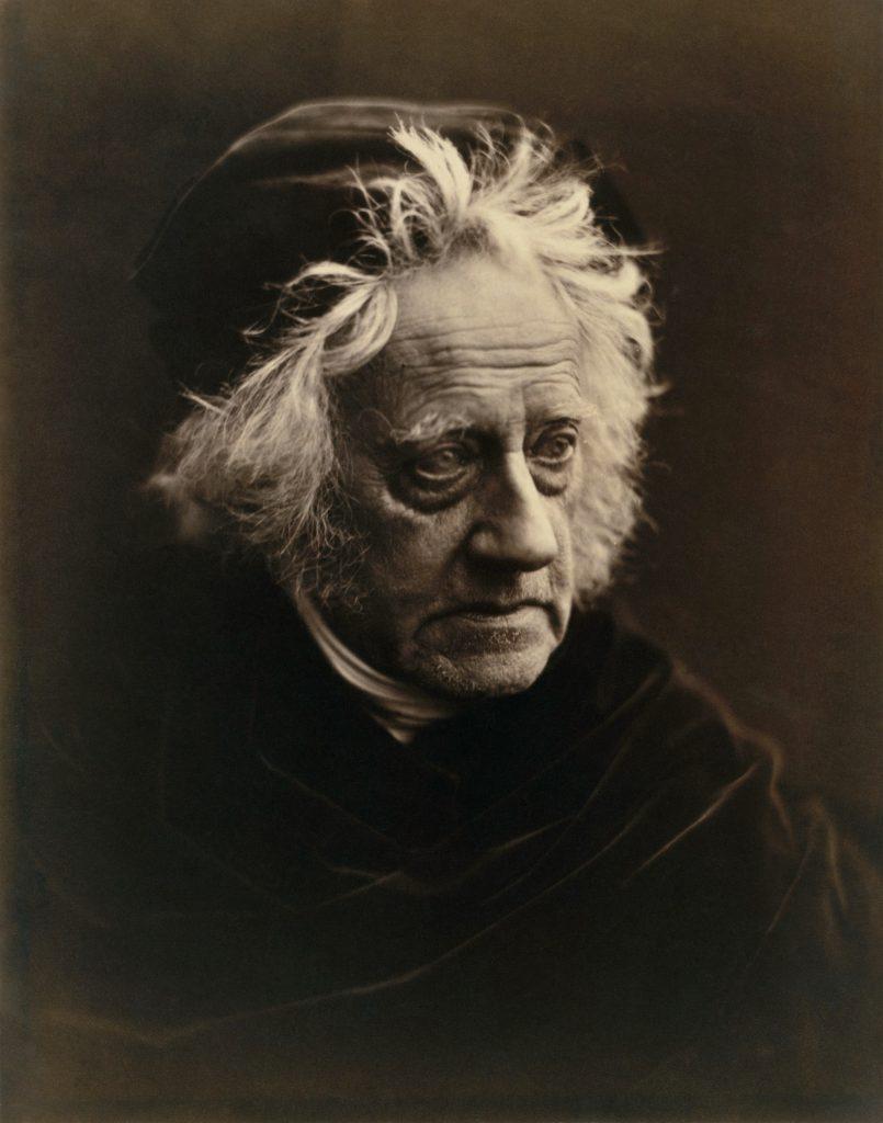 sir John Herschel. fotografia di Julia Margaret Cameron. Metropolitan Museum of Art