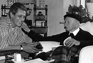 Damiano Bianca con Carlo Ludovico Bragaglia nel giorno del suo centesimo compleanno